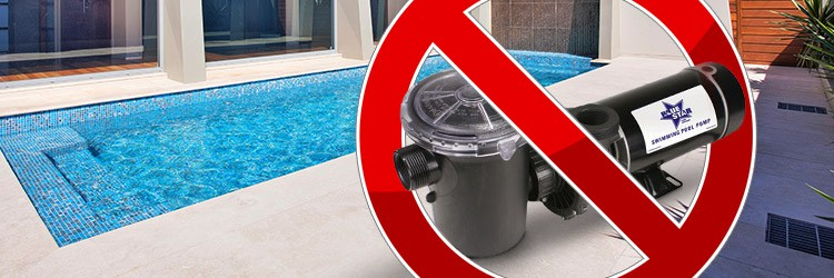 Can I use an above ground pump on an inground pool?