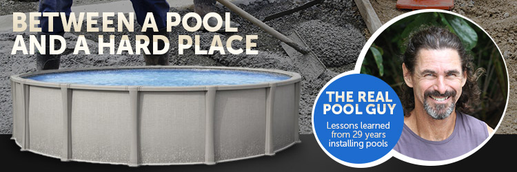Installing an above ground pool on concrete - Draining a swimming pool may be a bad idea ...