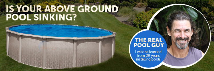 Sinking an above ground pool in the ground for Least expensive inground pool