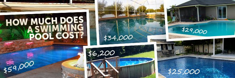 How much does a pool cost 93 real world examples for Average square footage of a swimming pool