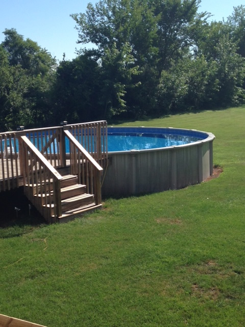 Above ground pool kits with deck above ground pool deck for Above ground salon