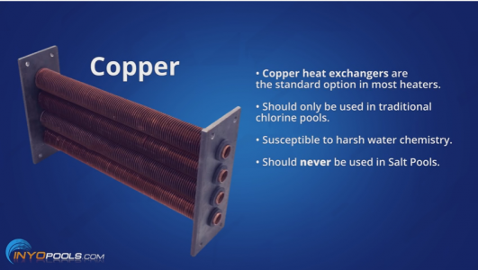 inground pool heater cupro nickel heat exchanger