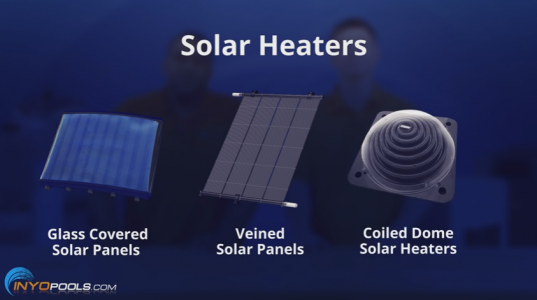 different types of pool solar heater