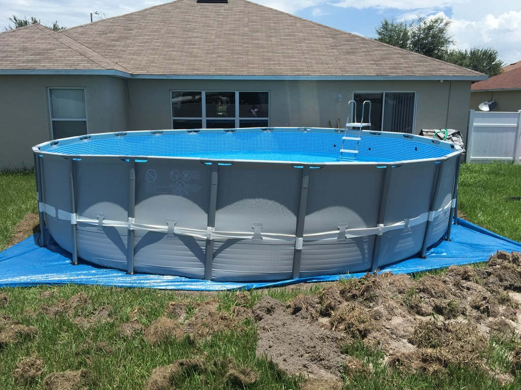 Off level above ground pools for On ground pools