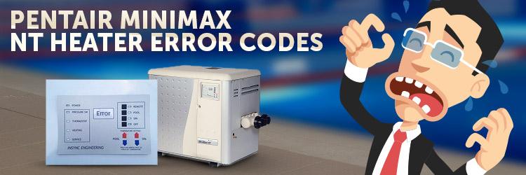pentair minimax error codes