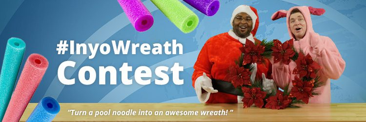 pool noodle christmas wreath