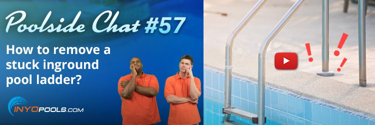 How to remove a stuck inground pool ladder