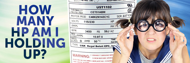 How to read a pool pump motor label