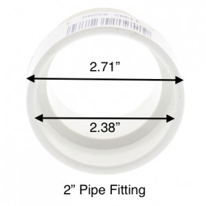 """2"""" pvc pipe fitting"""
