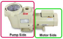 F594pxV - pool pump wet end and motor