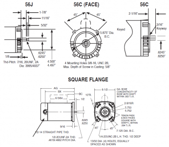 Pool Pump Motor Frame Types