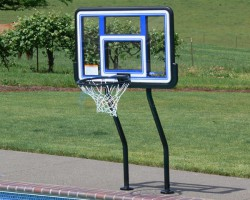Salt Pool Friendly Swim-N-Dunk Basketball W/ Anchors