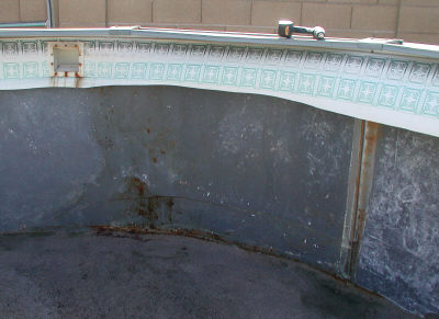 how to find above ground pool rust