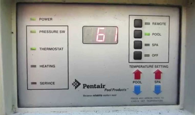 Pentair Minimax NT Heater Error Codes