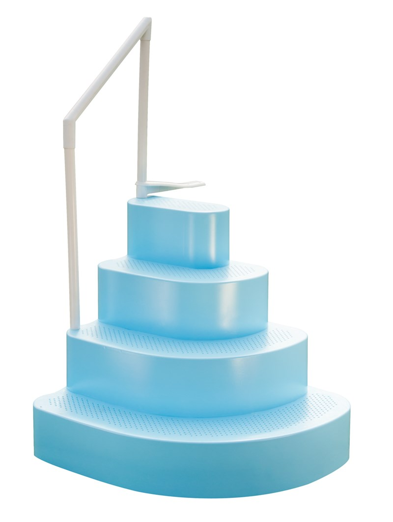 wedding cake steps inside only above ground pool