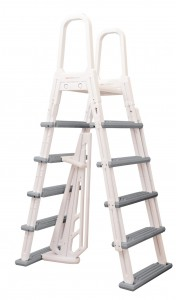 above ground a-frame ladder