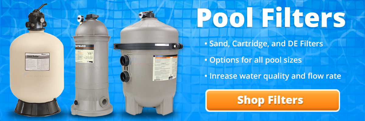 click here to view our cartridge, DE, and Sand filter selection