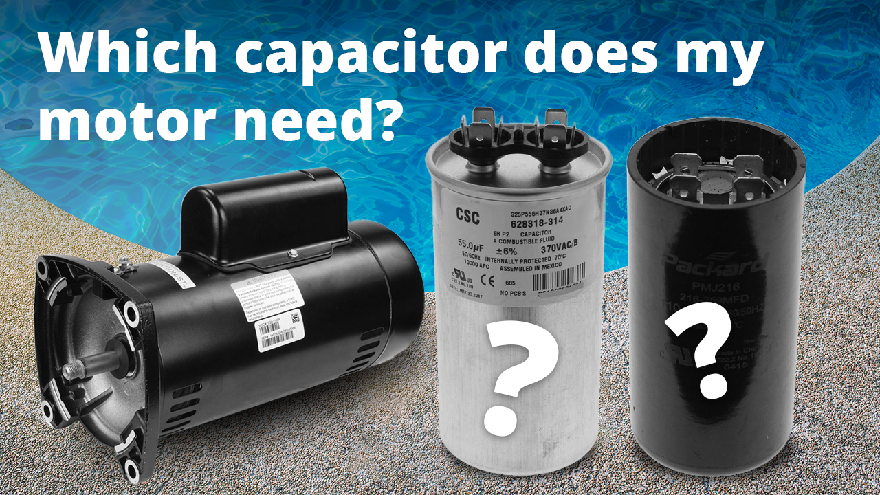 How to find the correct pool pump motor capacitor