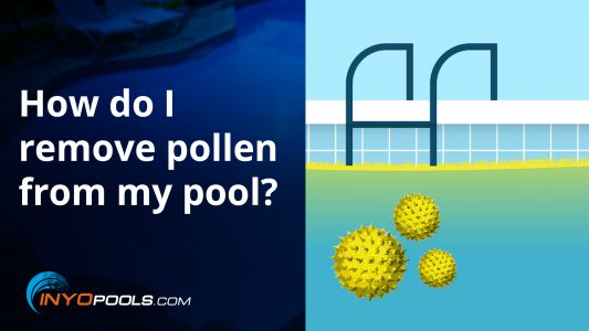How do I remove pollen from my pool?