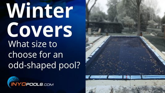 What size winter cover do I need for an odd-shaped pool?
